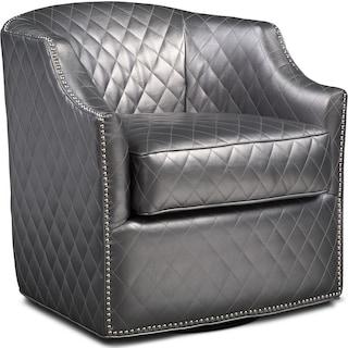 Roxie Swivel Chair - Pewter