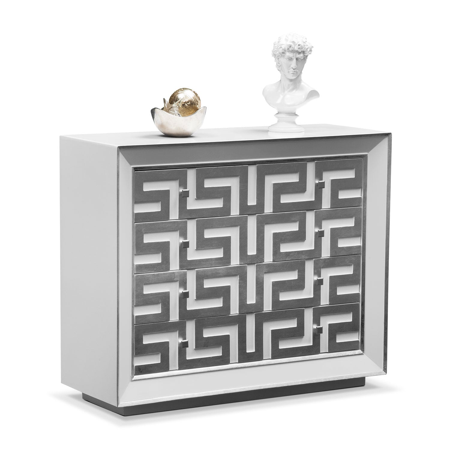 Halston Bachelor Chest - Silver