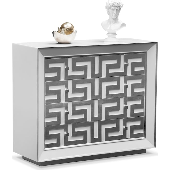 Bedroom Furniture - Halston Bachelor Chest - Silver