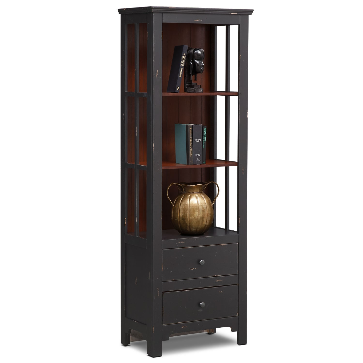 Bedroom Furniture - Keefe Bookcase - Black