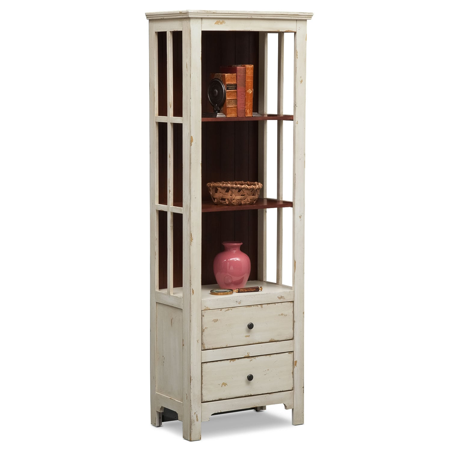 Accent and Occasional Furniture - Keefe Bookcase - White