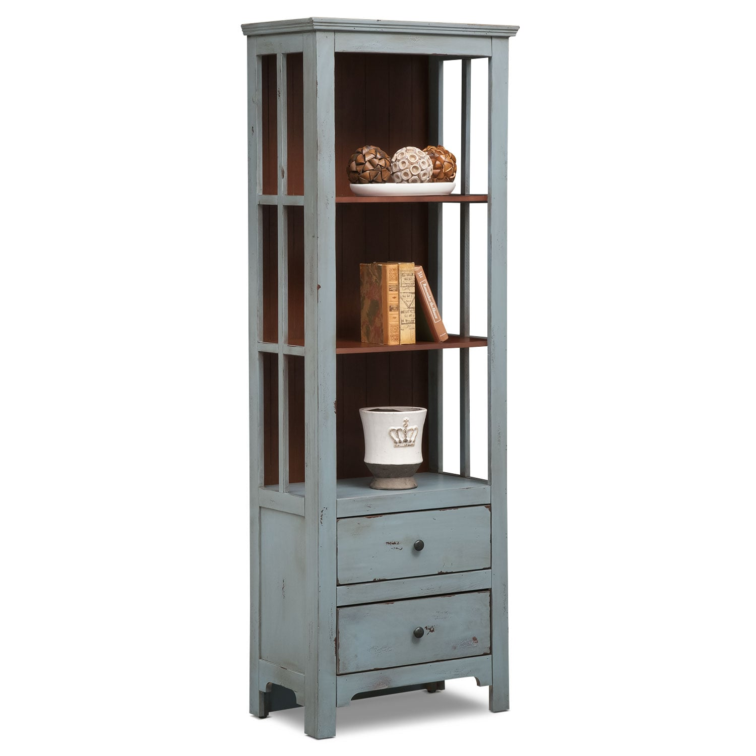 Keefe Bookcase - Blue