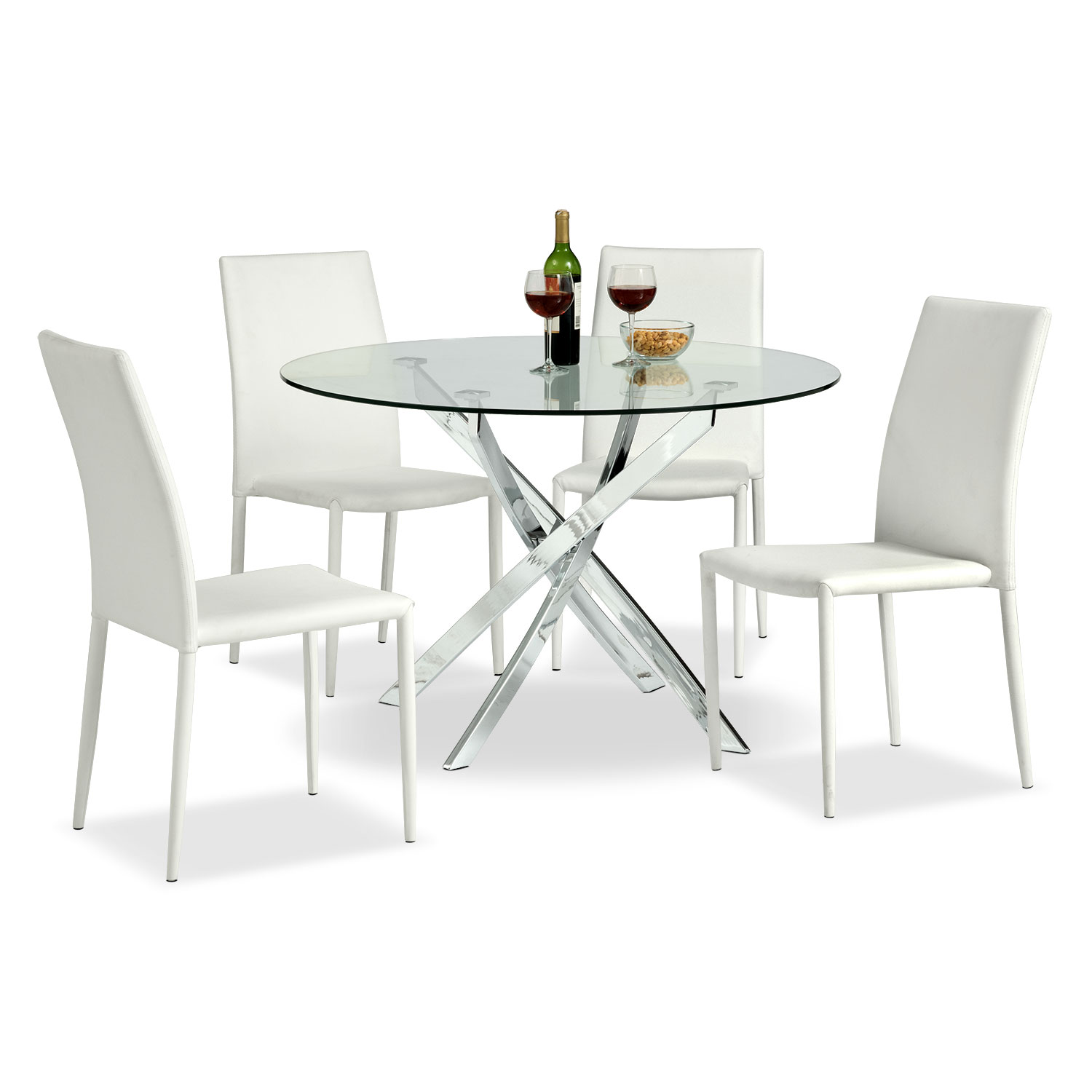 Quattro 5 Pc. Dinette - White