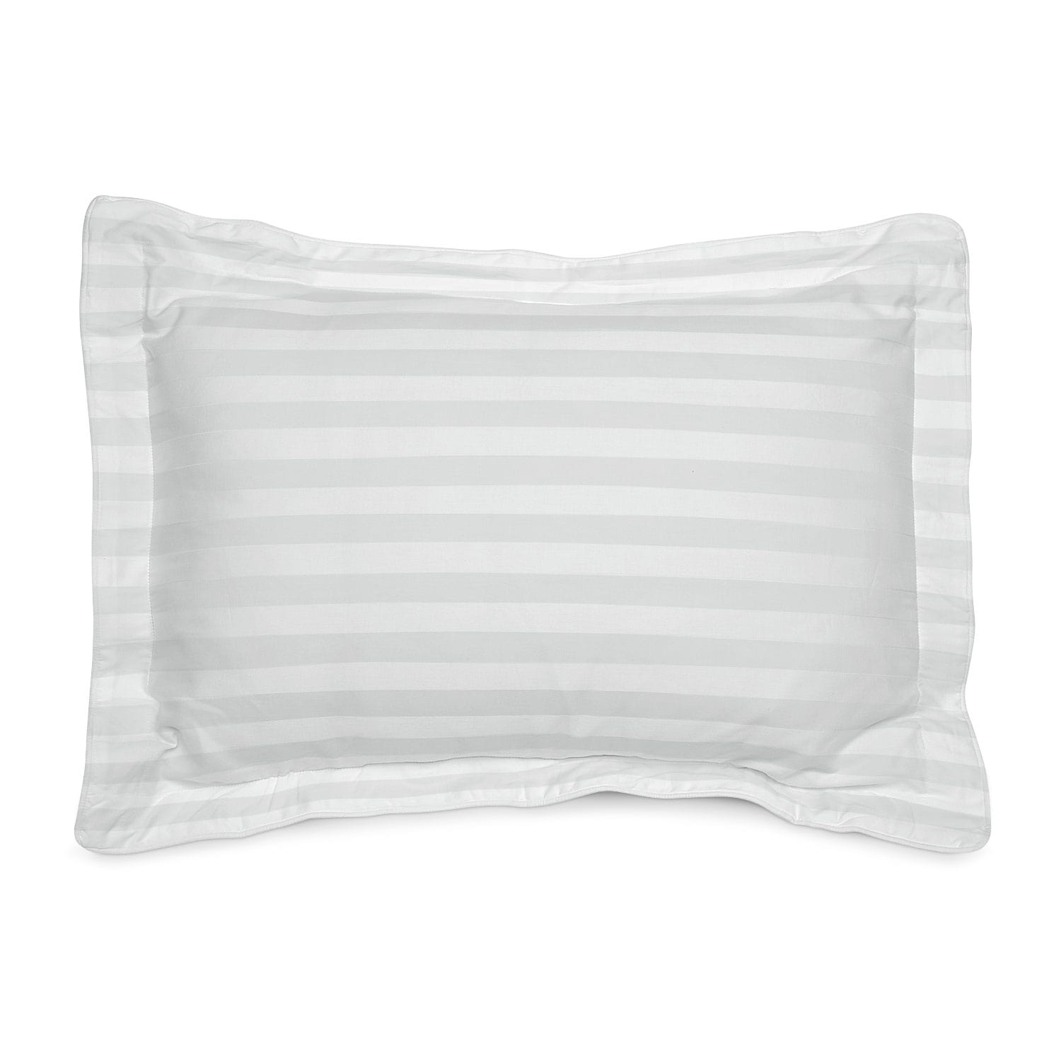 Accent and Occasional Furniture - Dobby Striped Queen Sham Set - White