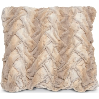 Faux Fur Decorative Pillow - Camel