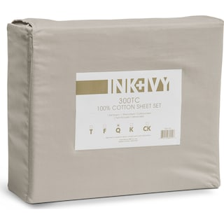 Queen 300 Thread Count Cotton Sheet Set - Gray