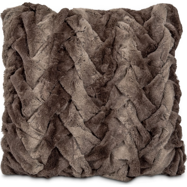 Accent and Occasional Furniture - Harbor Faux Fur Decorative Pillow