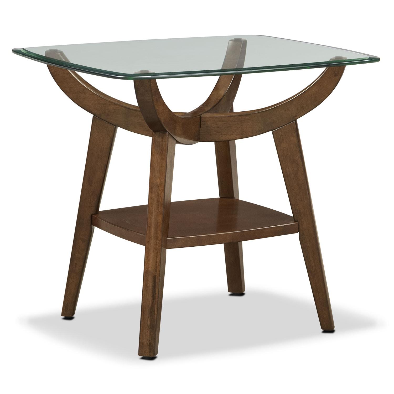 [Midtown End Table - Walnut]
