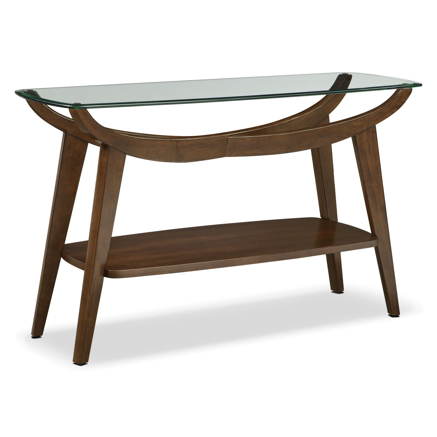 Accent and Occasional Furniture - Midtown Sofa Table - Walnut