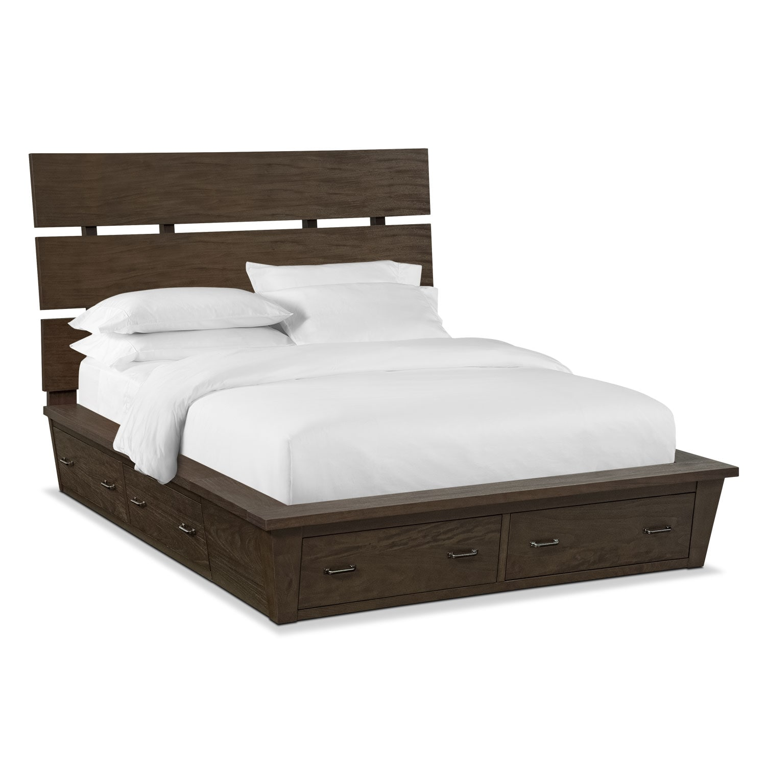 Camryn King Storage Bed - Cocoa