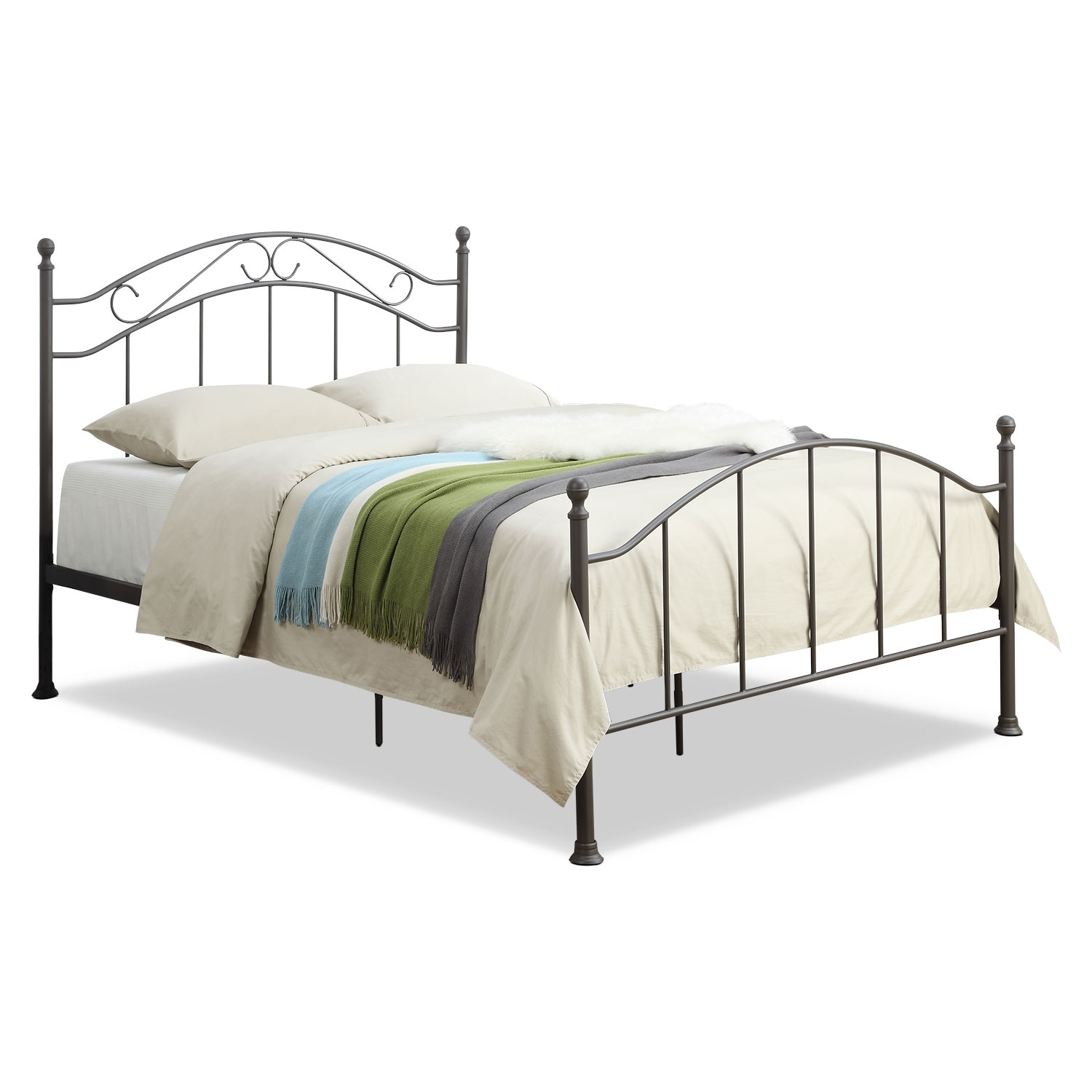 Bedroom Furniture - Deena Queen Bed - Brown