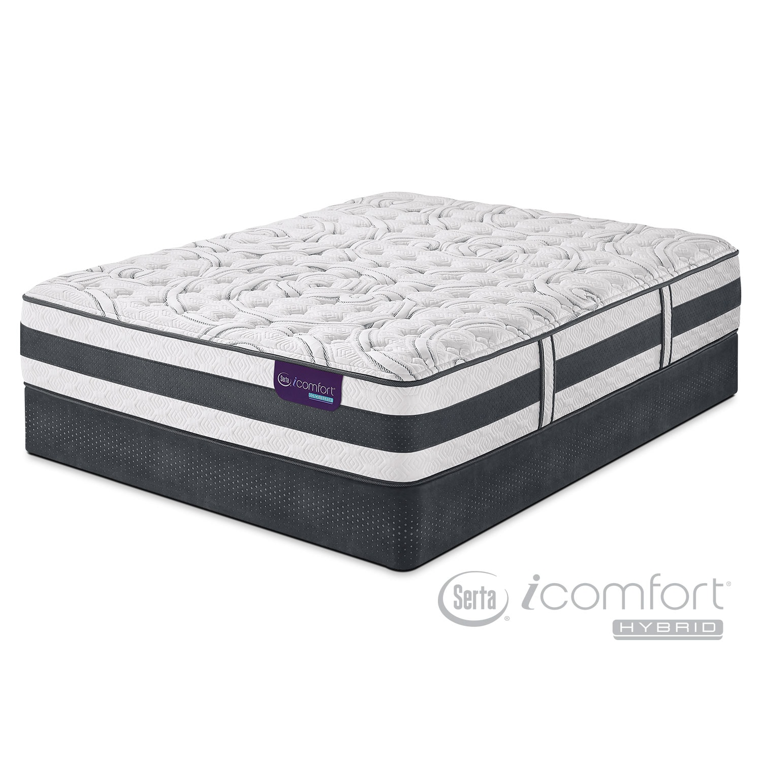 Mattresses and Bedding - Applause II Firm California King Mattress/Split Foundation Set