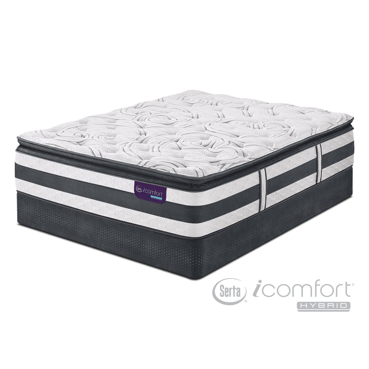 Mattresses and Bedding - Observer Plush King Mattress and Split Foundation Set