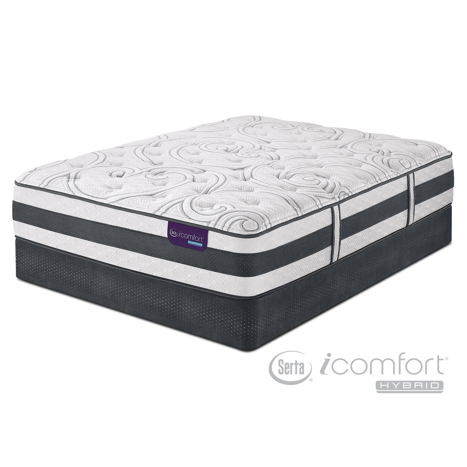 Recognition Plush California King Mattress and Split Foundation Set