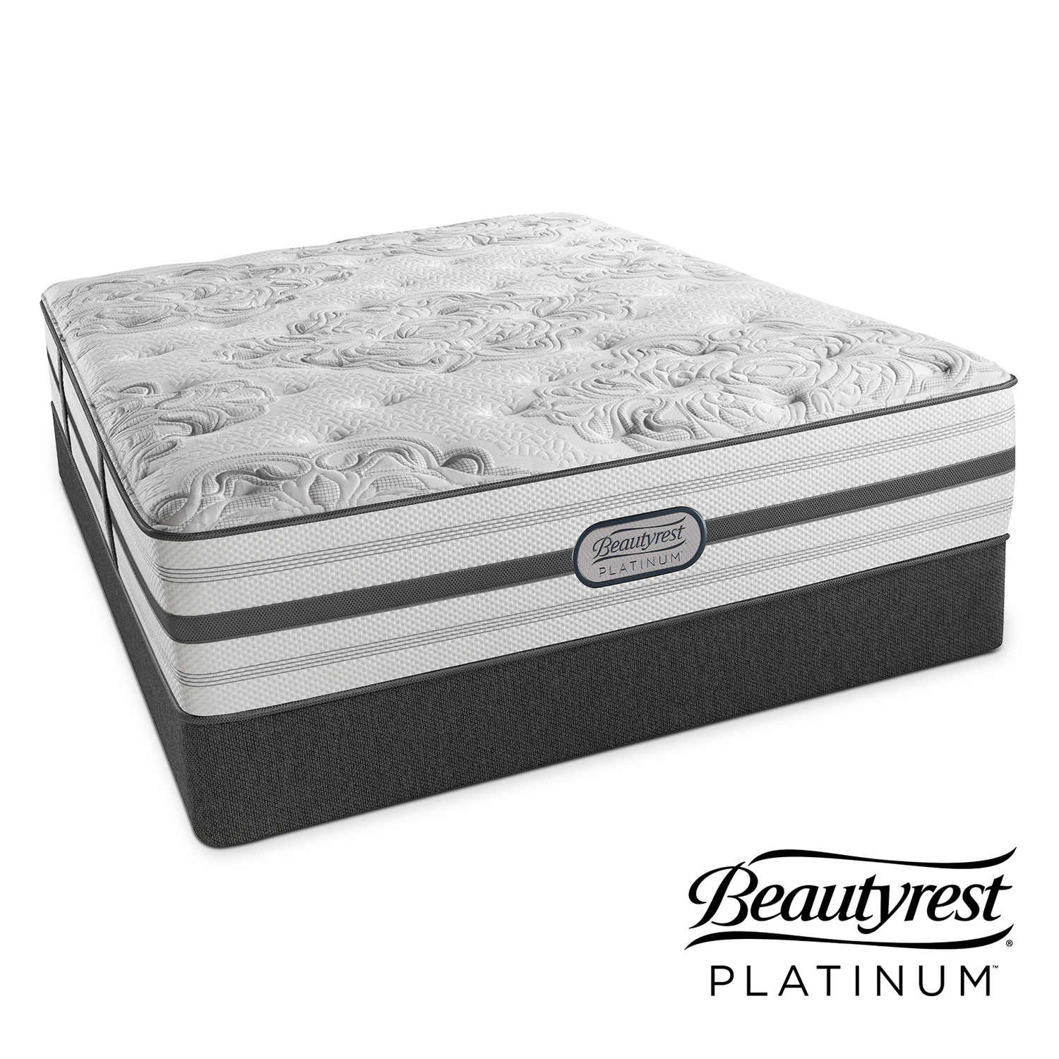 Alexandria Luxury Firm Queen Mattress and Low-Profile Foundation Set