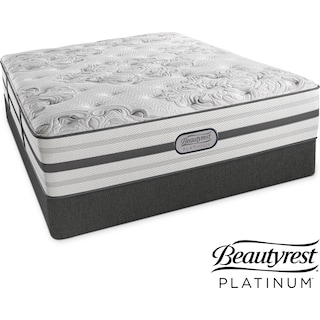 Alexandria Luxury Firm King Mattress and Split Low-Profile Foundation Set