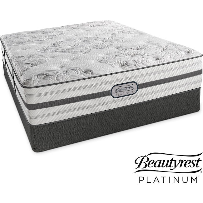 Mattresses and Bedding - Alexandria Luxury Firm Queen Mattress and Low-Profile Foundation Set