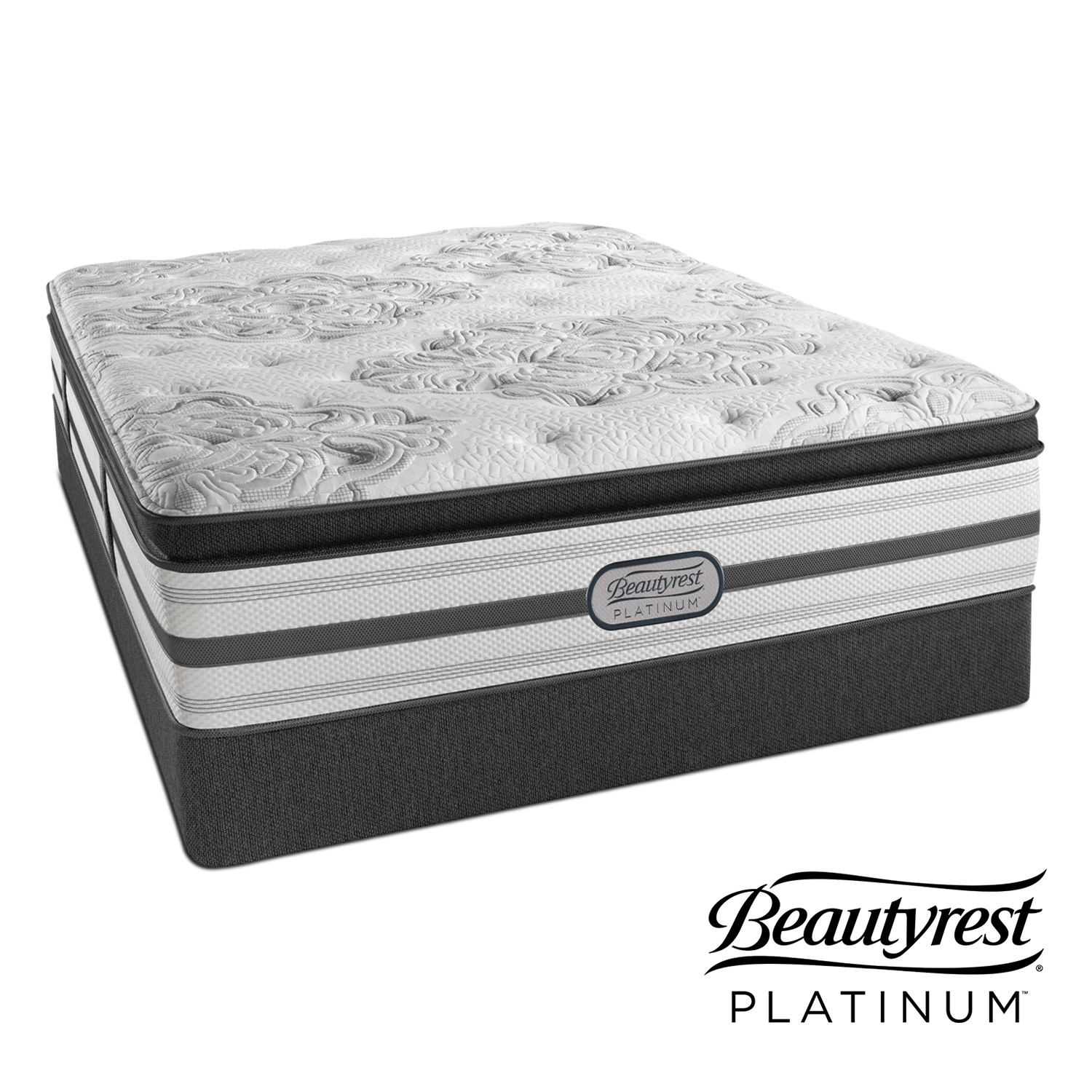 Genevieve Plush Queen Mattress and Low-Profile Foundation Set
