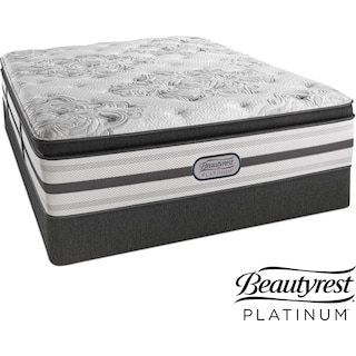 Genevieve Plush King Mattress and Split Low-Profile Foundation Set