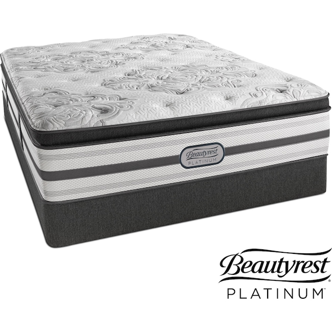 Mattresses and Bedding - Genevieve Plush Full Mattress and Low-Profile Foundation Set