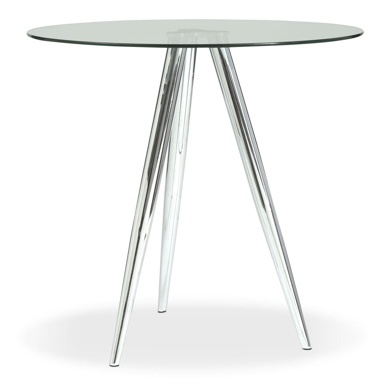 Metropolitan Bistro Table - Chrome