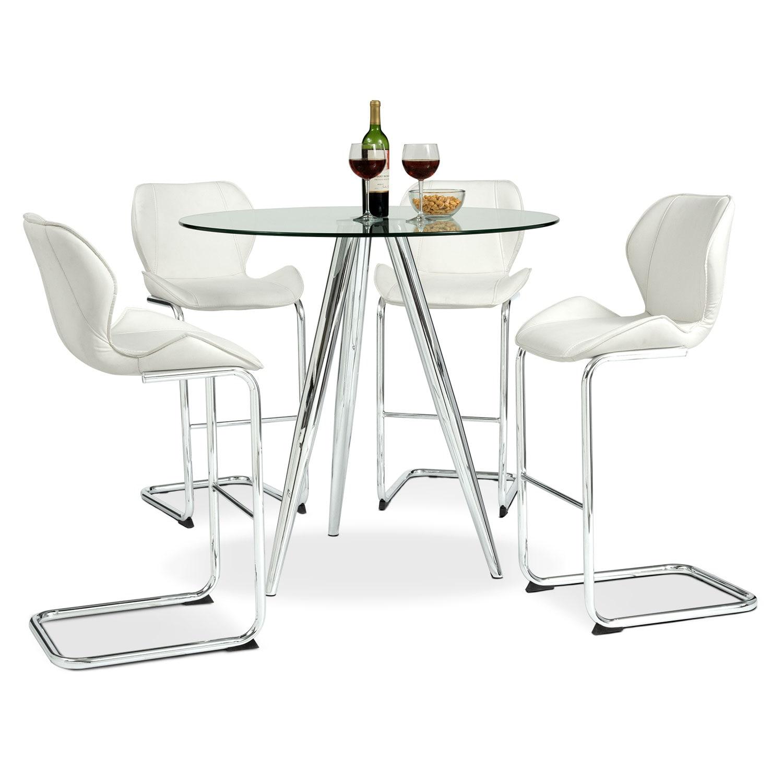 Metropolitan 5-Piece Dinette - White
