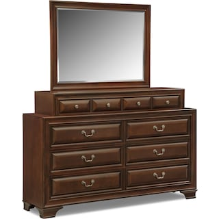 Sanibelle Dresser and Mirror Set - Mahogany