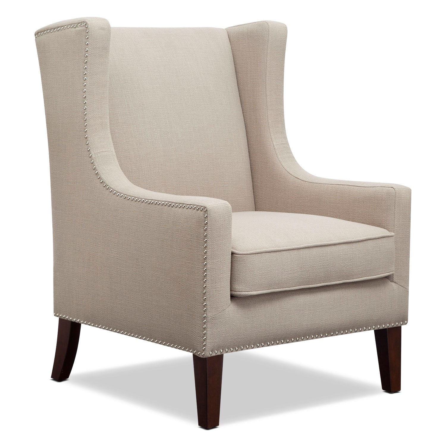 Living Room Furniture - Blythe Accent Chair - Linen