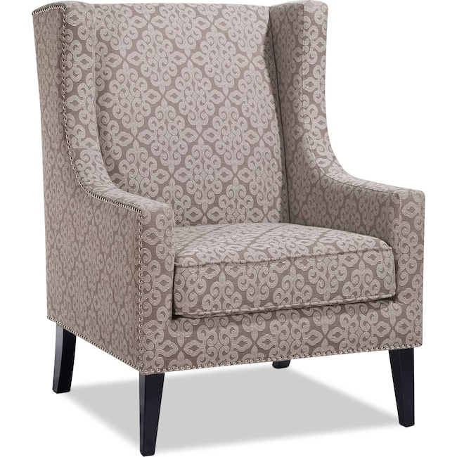 Living Room Furniture - Blythe Accent Chair - Gray