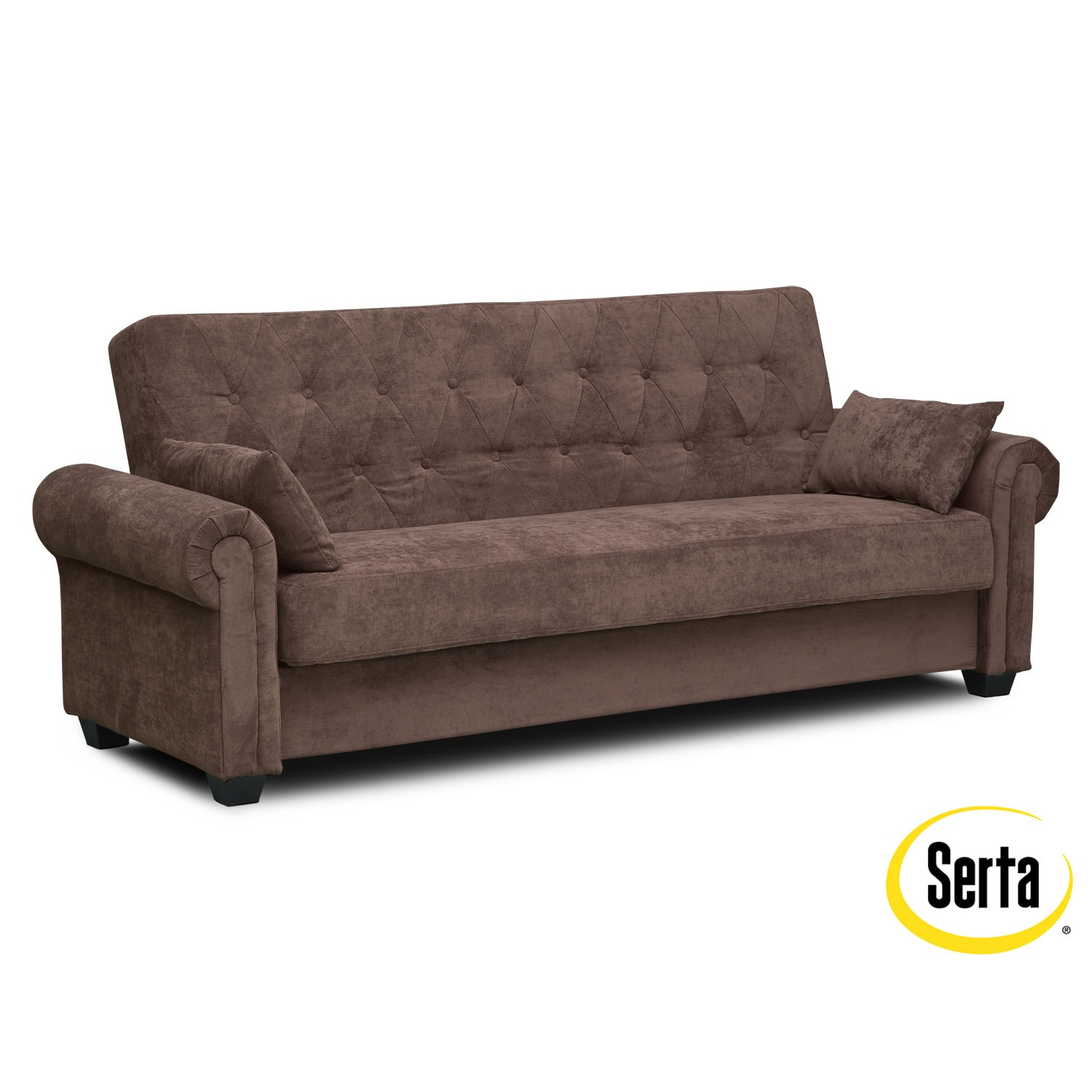 Andrea Futon Sofa Bed with Storage - Java