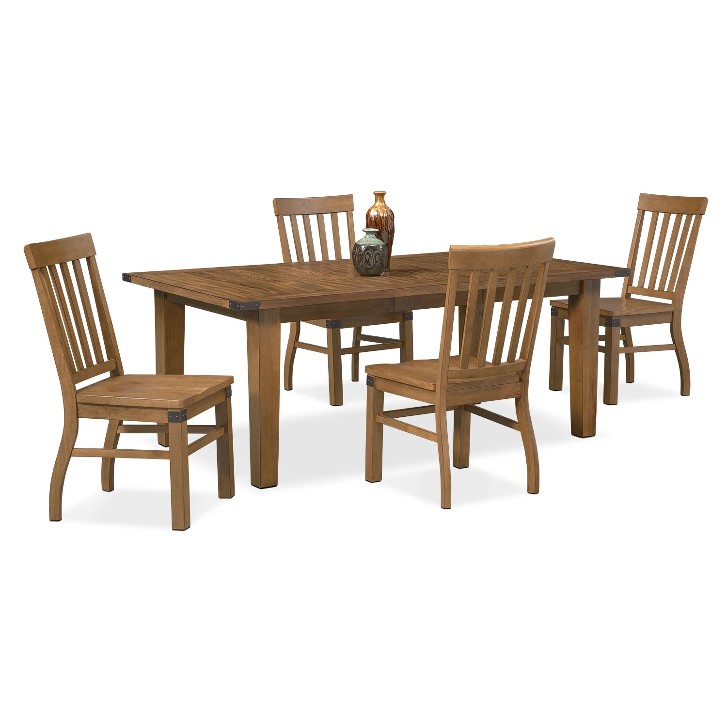 Dining Room Furniture - Salem 5-Piece Dinette Set - Pecan