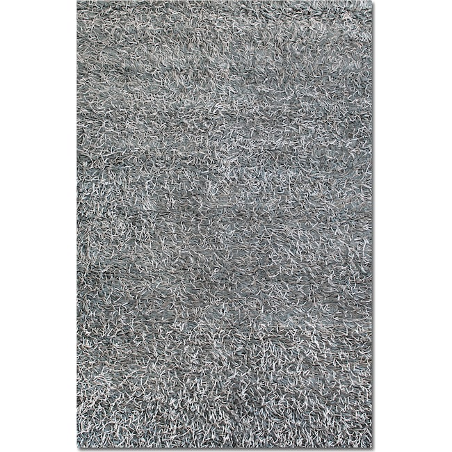 Rugs - Lifestyle Shag 8' x 10' Area Rug - Steel