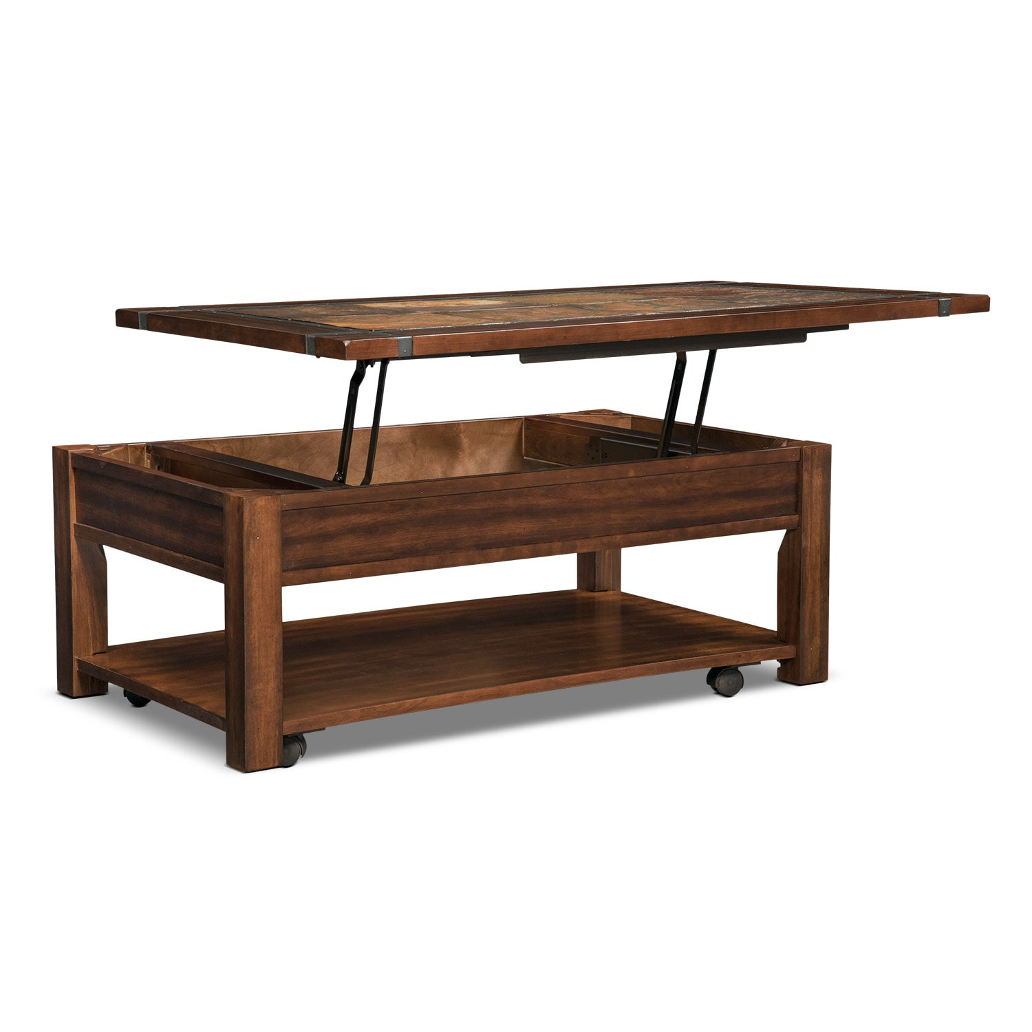 Lift Top Coffee Table Cherry: Slate Ridge Lift-Top Cocktail Table - Cherry