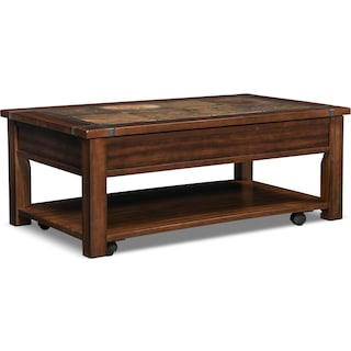 Slate Ridge Lift-Top Coffee Table - Cherry