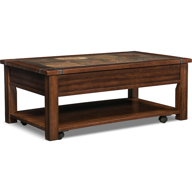 Accent And Occasional Furniture Slate Ridge Lift Top Coffee Table Cherry