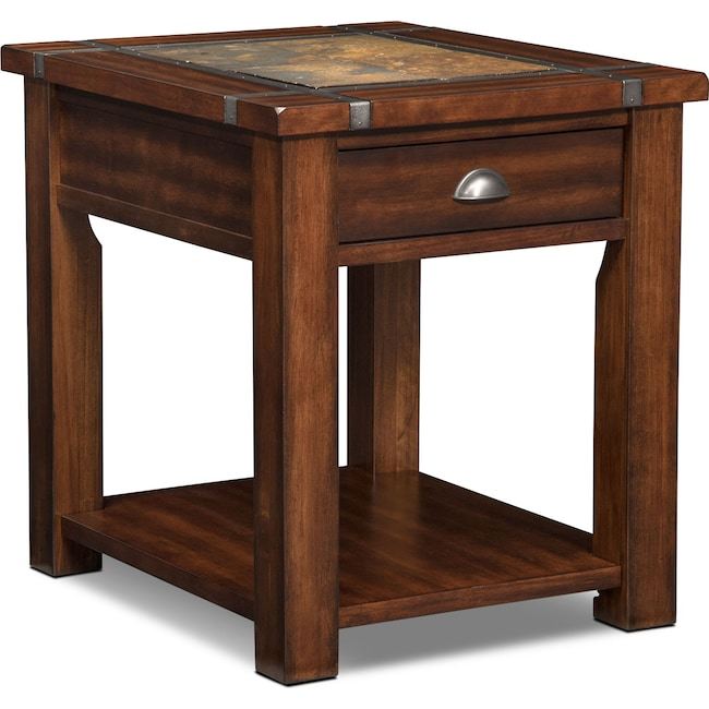 Accent and Occasional Furniture - Slate Ridge End Table - Cherry