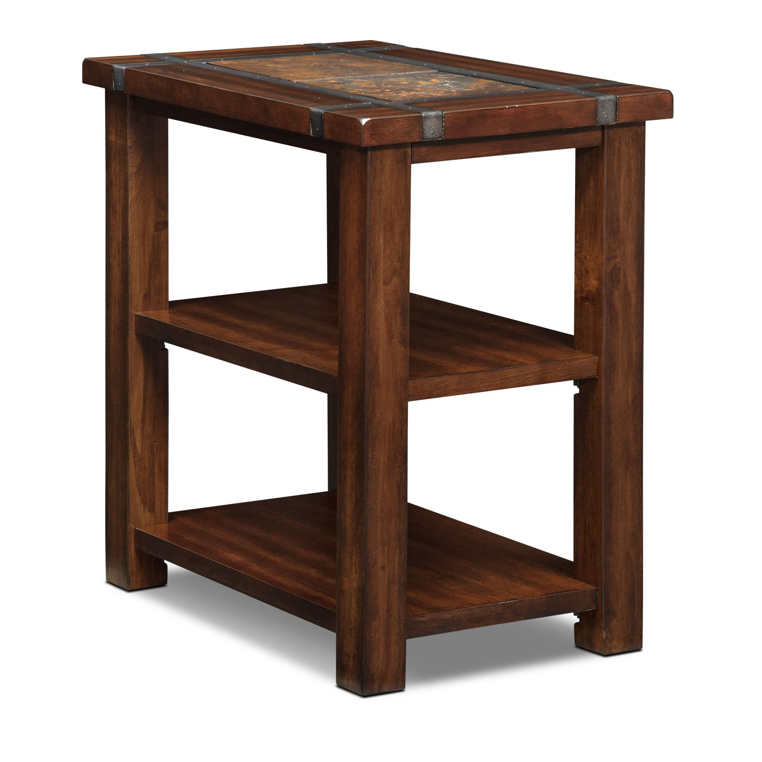 Slate Ridge Chairside Table Cherry American Signature Furniture
