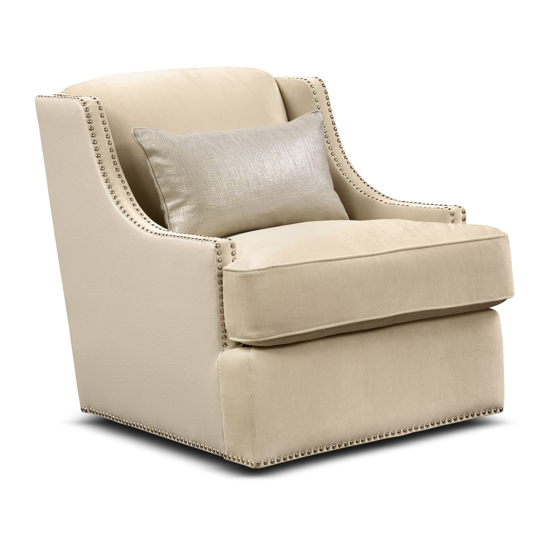 Nicole Pearl Swivel Chair