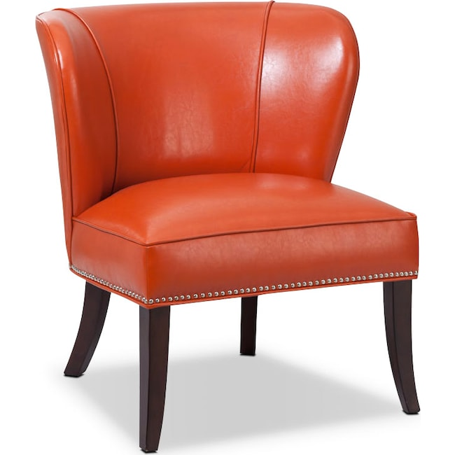 Living Room Furniture - Denver Accent Chair - Orange