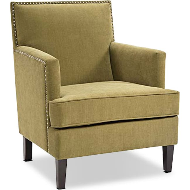 Evanston Accent Chair Green American Signature Furniture
