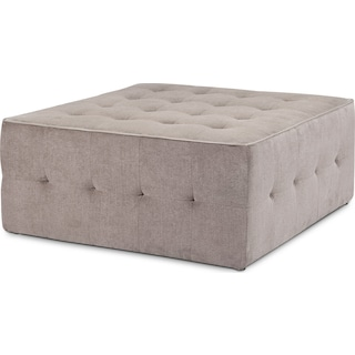 Vesta Cocktail Ottoman - Gray