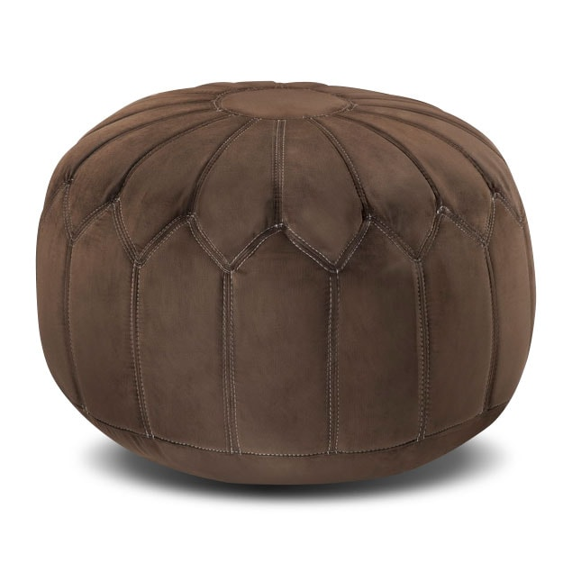 Living Room Furniture - Hobbs Pouf - Brown