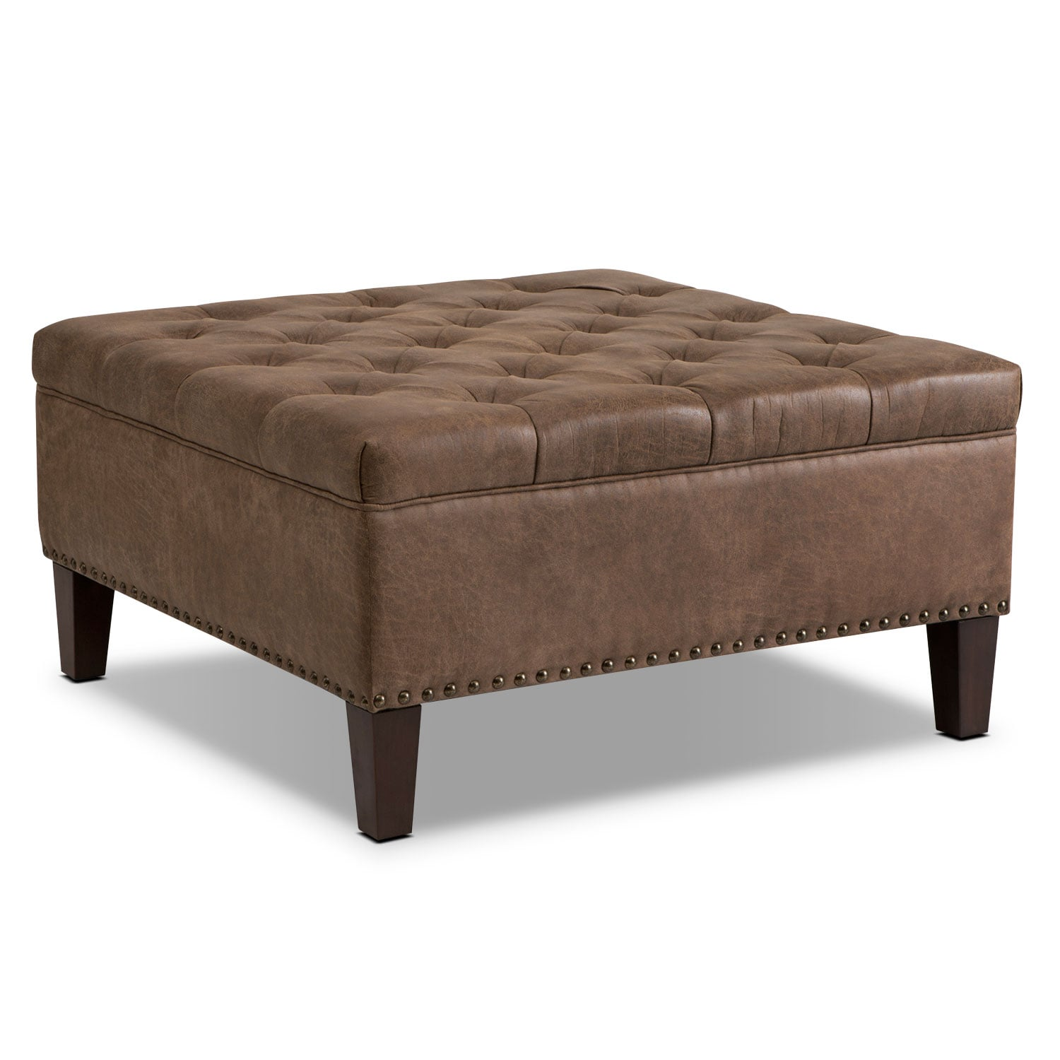 Razi Cocktail Ottoman - Brown