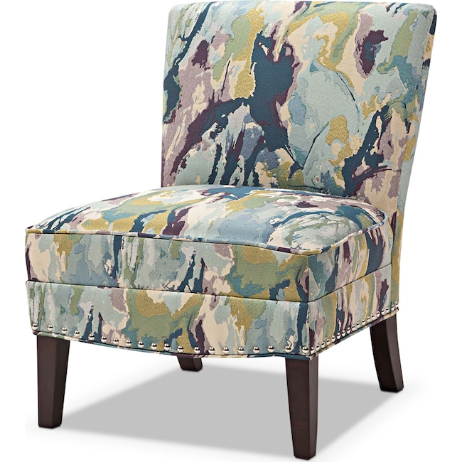 Living Room Furniture - Cami Accent Chair - Watercolor