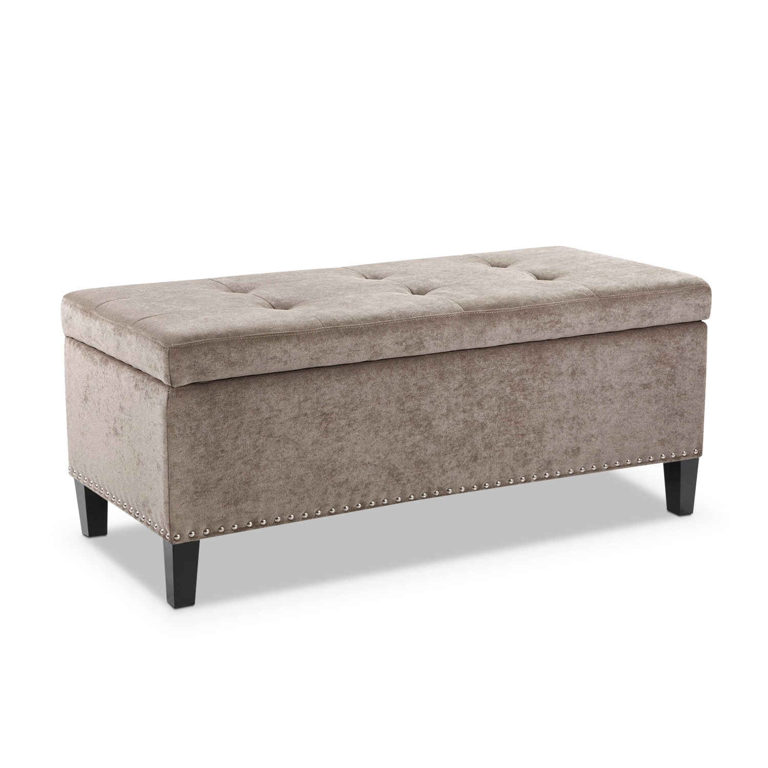 Harper Storage Bench - Gray