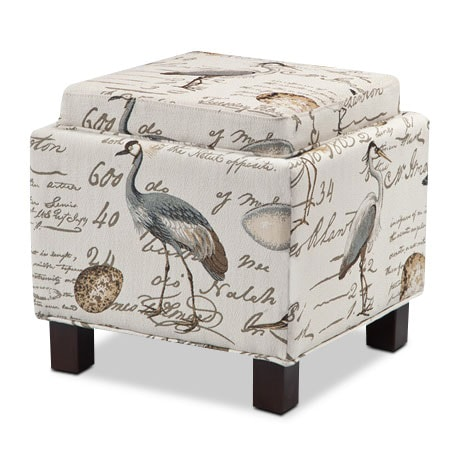 Living Room Furniture - Hayes Storage Ottoman