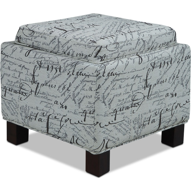 Accent and Occasional Furniture - Hayes Storage Ottoman with 2 Pillows - Script