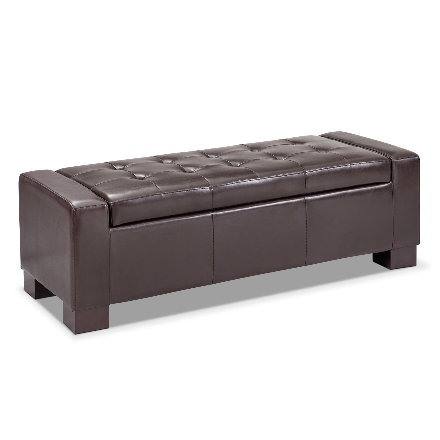 Accent and Occasional Furniture - Jive Storage Ottoman - Brown