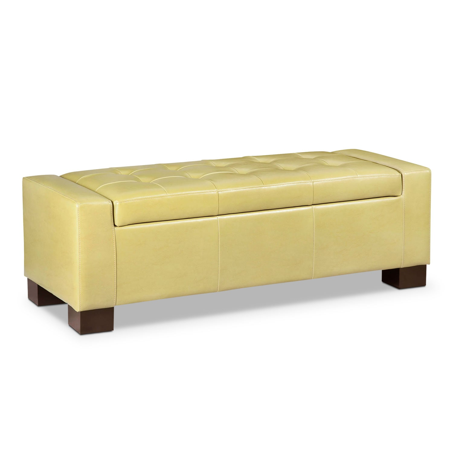 Living Room Furniture - Jive Storage Ottoman - Yellow