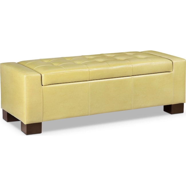 Accent and Occasional Furniture - Jive Storage Ottoman - Yellow
